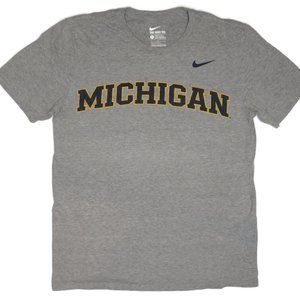 Nike Michigan Wolverines T-Shirt Mens Large Gray